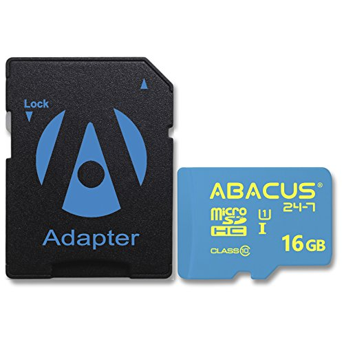 Abacus24-7 32GB micro SD Memory Card SD Adapter for Samsung Galaxy S7 Edge S8 S7 Active Galaxy S5 Note 8 Note 4 Note 3 Grand Prime Galaxy Alpha Galaxy A5 A3 Galaxy S5 Active S4 J7 J3 16 GB