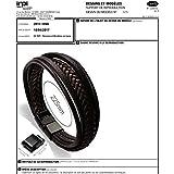Murtoo Edelstahl Echtleder Armband schwarz|braun geflochten mit Magnet Verschluss(22cm) - 7