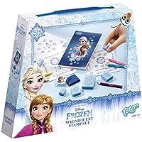 Disney Frozen Bastel-Set mit 6 Stempel, 5 Buntstifte, 1 Stempelkissen und 1 Zeichenblock - im süßen Eiskönigin Look