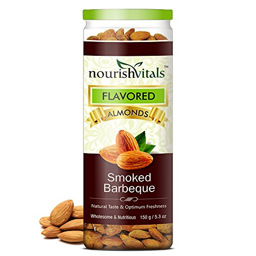 Nourish Vitals Roasted Almonds Smoked Barbeque Flavored – 150 gm