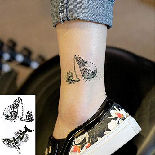 serdicht Temporäre Tätowierung Aufkleber Schlange Tatto Tatoo Tatouage Body Art Hand Zurück Fuß Arm für Mädchen Frauen Männer 5 Stücke- ()