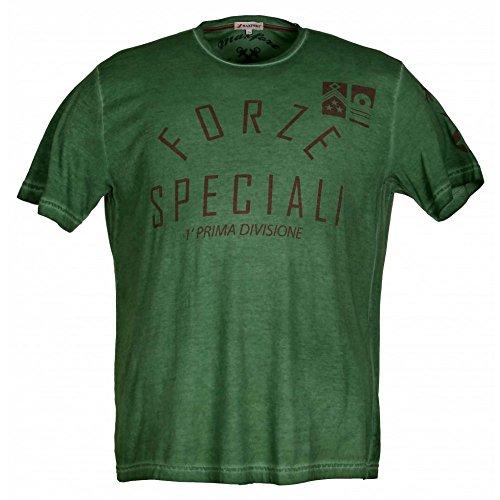 T-shirt Maxfort 23801 taglie forti uomo - Verde, 5XL