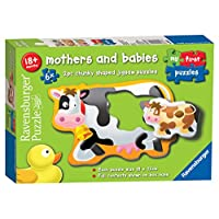 Ravensburger My First Puzzles, Mother and Babies 6x 2pc Jigsaw Puzzles