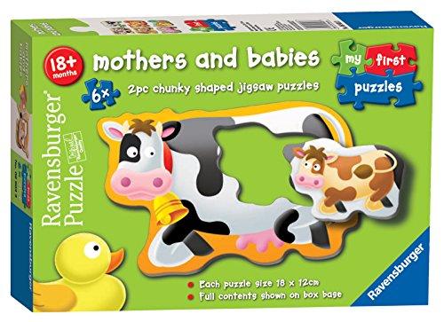 Ravensburger 6903My First Puzzles, Puzzle für Mütter und Babys-6x 2 Teile