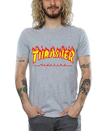 Memoryee Thrasher Signo de Llama Camiseta de Manga Corta...