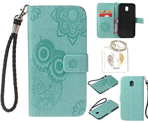 Preisvergleich Produktbild für Samsung Galaxy J3 2017 / J330 5.0'' PU Leder Silikon Schutzhülle Handy case Book Style Portemonnaie Design für Samsung Galaxy J3 2017 / J330 5.0'' + Schlüsselanhänger ( DFG (3)