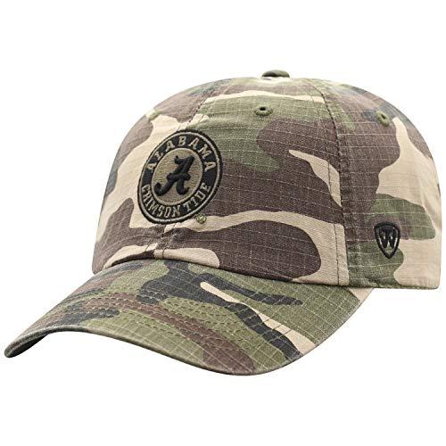 Top of the World NCAA Alabama Crimson Tide Men's American Hero's Adjustable Icon Hat, Camo Alabama Crimson Tide Camo