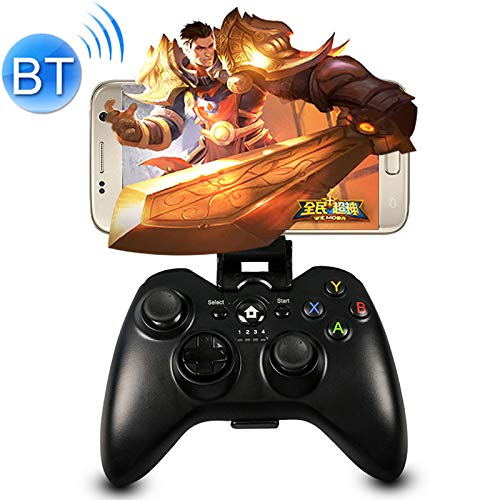 Kaneed Gamecontroller Gamepad C9 Bluetooth Vibration Gaming Controller Grip Game Pad für iPhone, Galaxy, Huawei, Xiaomi, HTC und andere Smartphones - Htc Phone Pad