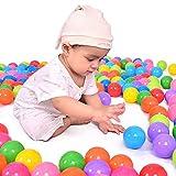 La Cabina Balles Coloré en Plastique Souple Balle de Jouet Wave Balle Boules d'océan Drôle Bébé Enfant Jouets de Piscine Multicolore (100PCS)