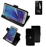 K-S-Trade® Case Schutz Hülle für FANTEC Limbo Handyhülle Flipcase Smartphone Cover Handy Schutz Tasche Bookstyle Walletcase schwarz (1x)