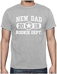 Camiseta para Hombre - New Dad 2018 Rookie Department - Regalo Original para Futuro Papá en su Cumpleaños tBBaPr