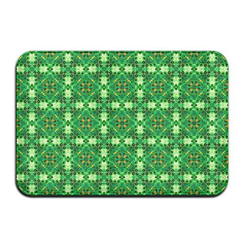 "Klotr Fußabtreter, Non-Slip Bath Mat (15.7\"" X 23.6\""), Bathroom Rug Mat, Delightful Green Geode Diamonds Fabric (4858) Senior Design Area Rugs for Living Room"