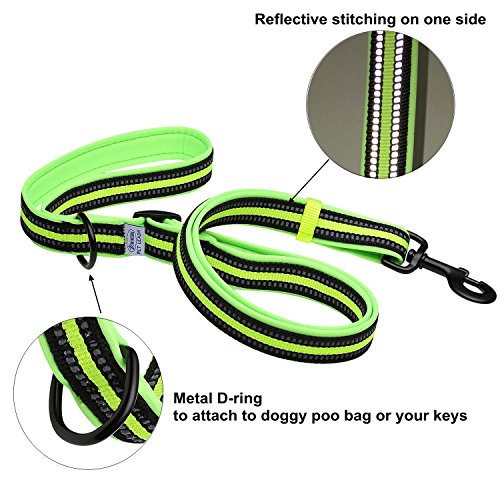 Dog-Lead-ARIKON-Adjustable-Reflective-Soft-Padded-Dog-Lead-with-Bright-Colors-Pet-Leash-for-Small-Medium-Large-Dog-Dog-Training-Walking-Running-Lead-for-Daily-Use