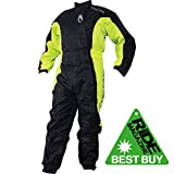 Richa Typhoon Impermeable De Motocicleta Traje De One Piece General Negro/Amarillo