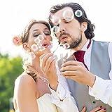 WeddingTree Premium Seifenblasen Set in weiß - 48 teilig mit Herzgriff - herzallerliebst für Hochzeit Taufe Geburtstag Goldene Hochzeit Verlobung Valentinstag Gastgeschenk Party - 2