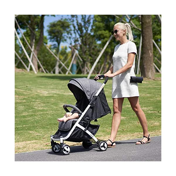 Allis Lightweight Stroller Baby Pushchair Buggy Travel Pram Plume - Grey Allis Baby Made according to British Standard EN1888 and Fire Safety Regulations 1988. Lockable 360 swivel wheels, removable and suspension, Peek A Boo window/ Recline Seat/ Lie-flat position From 6M (Upto 15Kg Approx). Lightweight 6.7Kg only, Easy to fold with one hand only 4