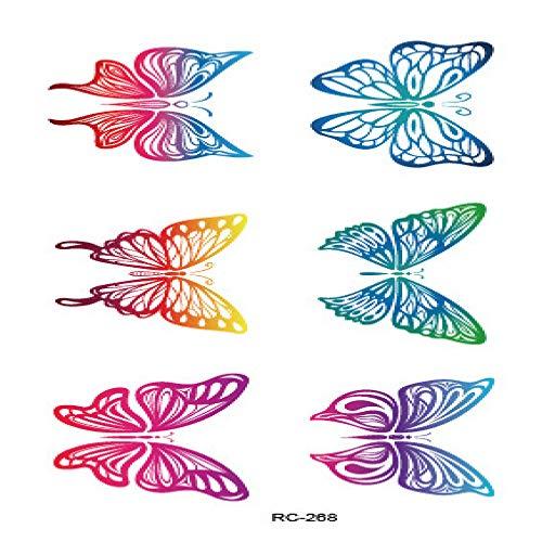 Umweltschutz wasserdicht Schweiß Feder Tattoo Aufkleber Farbe kleine frische 3Pcs-19 fertige Größe: 105 & times;60mm