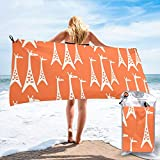 BlueTop Mid Century Modern Giraffe Orange Beach Quick Drying Towel Microfiber Yoga Fitness Absorbent Towel Outdoor Climbing Quick Drying Towel