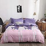 TAYIBO Quilt Doppelbett,Vierteiliges Bettwäscheset, Doppelbett, Kissenbezug, Bettwäsche und Bettbezug @E_Three,Duvet Bettbezug Doppelbett Bettwäsche