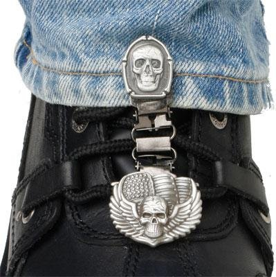 Ryder Clips Laced Boots Two Clip Version - Bones/Skull BSL-FC by Ryder Clips