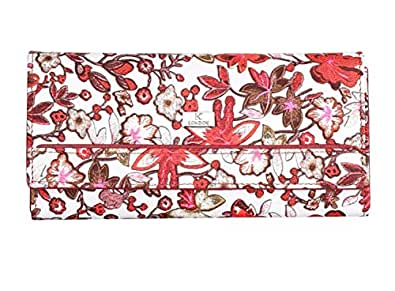K London Flowers Pattern Women's Wallet (1515_red_flower)