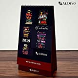 ALDIVO 5 x 8 in Table Planner Calendar for 2019
