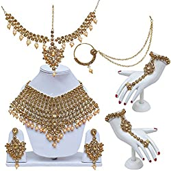 Lucky Jewellery Lct Gold Designer Bridal Set For Women