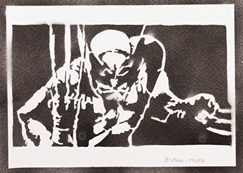Kostüm Stiefel Wolverine - Wolverine X-Men Poster Plakat Handmade Graffiti Street Art - Artwork