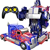 PETRLOY LKW Verformung Optimus Prime RC Spielzeug Transforming Robot Remote Control 360 Speed...