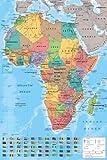 Carte Afrique Poster grand format 61 x 91.5 cm Plastifié...