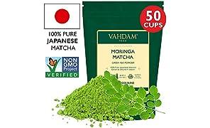 VAHDAM, tè verde Moringa Matcha | | Polvere di tè matcha 100% PURE di origine giapponese | ANTI-OSSIDANTI 137x | Tè verde per la perdita di peso e Detox di tutti i giorni | SUPER FOOD del Giappone