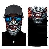 Wokee Multifunktionstuch Gesichtsmaske Radfahren Motorrad Neck Tube Ski Schal Gesichtsmaske Balaclava Halloween Party Motorradmaske Sturmmaske Maske für Motorrad Ski (B)