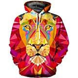Pullover Herren,Männer Herbst Winter 3D Print Hooded Langarm Kapuzen Sweatershirt Top Bluse SANFASHION