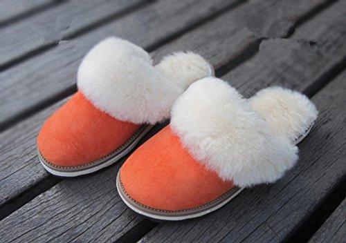 Mesdames Casual Chaussons en coton à l'intérieur pour garder au chaud en automne et hiver en peau de mouton Chaussons 2