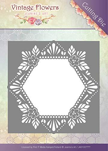 Find It Trading Jeanine's Art Vintage Flowers Die-Floral Hexagon