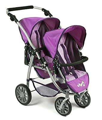 Bayer Chic 200068928Tandem buggy VARIO, Purple Checker, Lilac