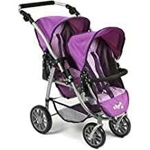Bayer Chic 200068928Silla infantil doble Tandem Buggy Vario, purpur Checker, color lila