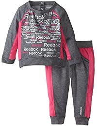 """Reebok Baby Girls' """"Overblow"""" 2-Piece French Terry Sweatsuit"""