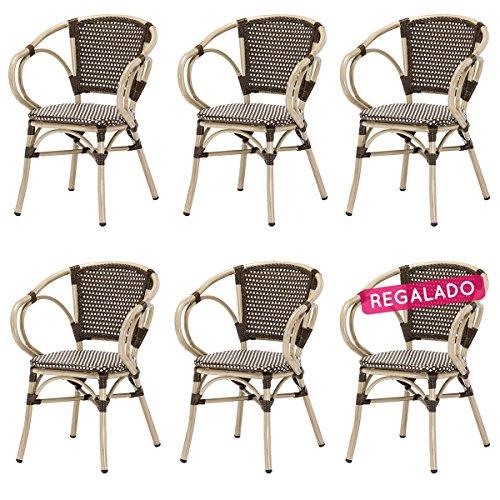Lot de 6 fauteuils NINA en polyrotin