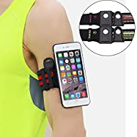 MAGQI Sports Armband with Quick On/Off Mount Key Holder Sweatproof for iPhone 6/7/6 Plus/7 Plus Samsung S7/S8/S7edge/S8 Plus for Running/Hiking/Biking/Walking/Gym,Red