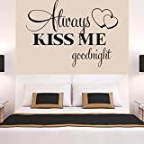 iYmitz  Chaud! Toujours m'embrasser Goodnight Sticker Mural Autocollant Amovible Devis Parole Word