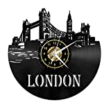 Orologio Da Parete Europeo Cd Vuoto Materiale In Vinile Incisione Laser 3D Soggiorno Decorazione Della Casa Per Inviare I Bambini A Inviare Regali Agli Amici (Londra)
