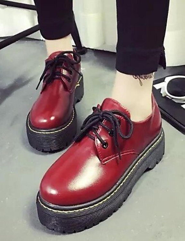 NJX/ 2016 Zapatos de mujer - Tacón Bajo - Comfort / Punta Cerrada - Oxfords - Exterior / Casual - Semicuero -...