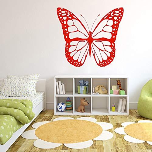 48X42 cm Schmetterling Bug Insect Monarch Wandaufkleber für Kindergarten Kinderzimmer Mädchen Tapete Hintergrund Decals Schlafzimmer Kunst Aufkleber
