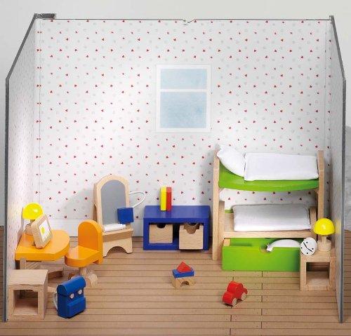 51746 Goki Puppenmöbel Kinderzimmer 28-teilig