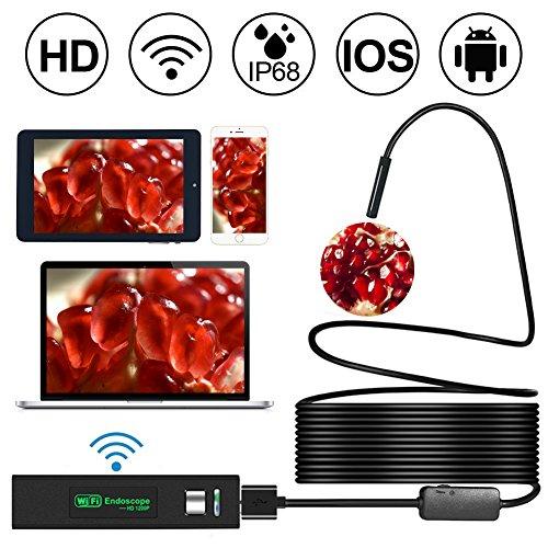 Preisvergleich Produktbild Starworld WiFi Wirelss Endoskop,  1200P HD WIFI Endoskop Inspektionskamera mit 8 LEDs 2.0 Megapixel wasserdichte Schlange Kamera für Android,  iPhone,  Tablet,  iPad und mehr (10m / 32, 8 FT)