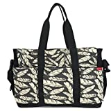 HC Extra Large Diaper Bag For 2 Babies Duo Double Hold-it-all Diaper Bags For Mom Heather Grey Purse For Two Kids Shoulder Tote With Zipper And Many Pockets For Twins Unisex Mommy Bag For Travel