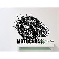 Freestyle Motocross Motorcycle Racer Extreme Sports BikeArt Vinyl Women Bedroom Decor Wall Sticker 42X50cm