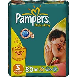 Pampers - Pampers Baby Dry Value (4-9 kg) x80