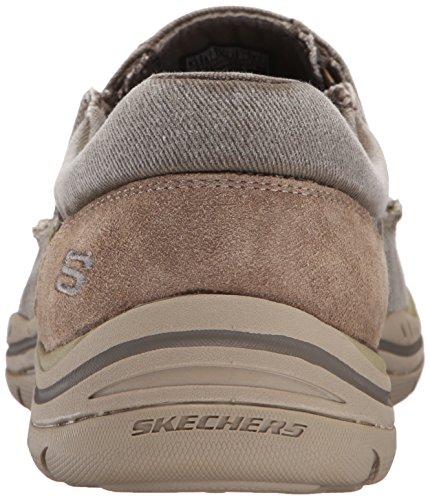 Skechers devrait Avillo Mens Casual Slip sur chaussure Kaki